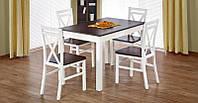 Стол обеденный Maurycy орех темный/белый (Halmar ТМ)
