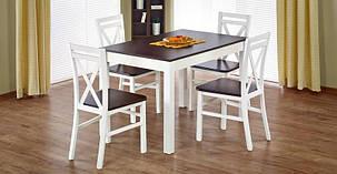Стол обеденный Maurycy орех темный/белый (Halmar ТМ), фото 2