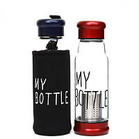 Стеклянная бутылка My Bottle 420 мл с ситечком для заварки