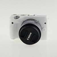 Защитный силиконовый чехол для фотоаппаратов CANON EOS M3 - белый