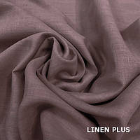 Светло-коричневая льняная ткань 100% лен, цвет 987
