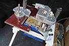 Ручной кромкооблицовочный станок б/у КМ-10 +кромкообрезной фрезер Вирутех с насадкой и фрезой, фото 3