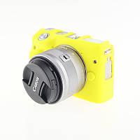 Защитный силиконовый чехол для фотоаппаратов CANON EOS M3 - желтый