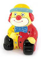 """Керамічна скарбничка """"Клоун"""" червоно-жовта (13х10х7 см)"""