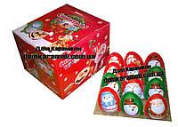 Яйцо шоколадное пластиковое TOY EGGS Новогоднее Дед Мороз 24 шт (Турция)
