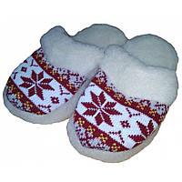 Домашние теплые женские тапочки из шерсти Polmar 40 размер