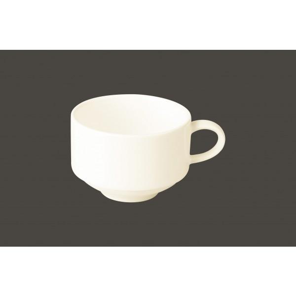 Чашка 220 мл. фарфоровая, белая Lyra, RAK