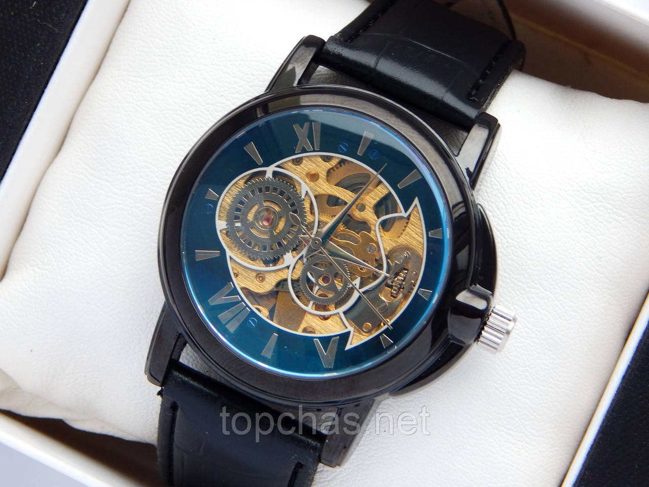 Мужские механические часы скелетоны, черные, шестерни на циферблате - Top  Chas - Интернет магазин 6f5cda8d07e