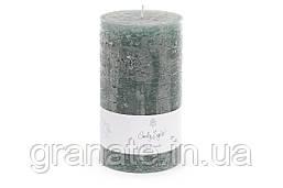 Свеча декоративная 15х8 см, время горения 75 часов, цвет - зелёный