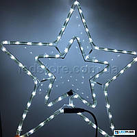 Светодиодная фигура Звезда DELUX MOTIF Star 54см IP44 Белая, фото 1