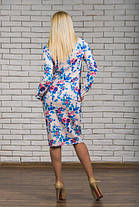 Трикотажное  платье  с цветочным рисунком, фото 3