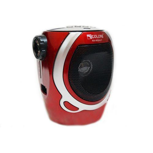 Портативная колонка радио караоке MP3 USB Golon RX-902AUT Red