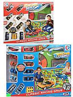 Набор машинок с игровым полем Crazy Car Racing Mat 8289: 8 машинок + поле 145х98см