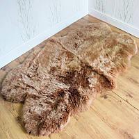 Ковер из овчины коричневого цвета, из 4-ох шкур, фото 1