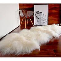 Ковер из овчины исландской породы белого цвета, из 2-х шкур
