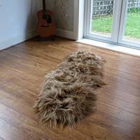 Ковер из исландской овчины коричневого цвета, из 2-х шкур, фото 1