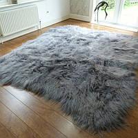 Ковер из исландской овчины серого цвета, из 8-ми шкур, фото 1