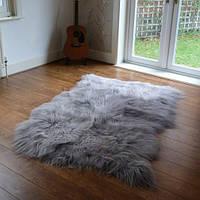 Ковер из исландской овчины серого цвета, из 4-х, фото 1
