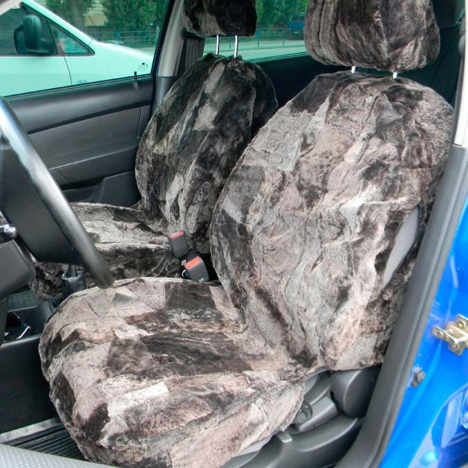 Автомобільні чохли з овчини на сидіння 077