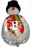 Шар фольгированный гигант Снеговик с ручками 1 м