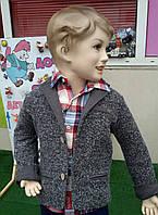 Жакет трикотажный для мальчика темно-серый 92-122 см Турция