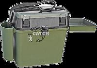 Зимний ящик для рыбалки COM-317 с карманом и столиком