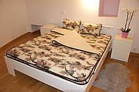 Одеяло из овечьей шерсти, 2х2,2 м. Расцветка Цветы, фото 1