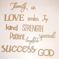 Family is... (Семья это) коллаж №5 (слова) заготовка  для декора