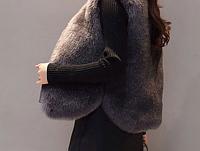 Женская меховая жилетка. Модель 61733, фото 2