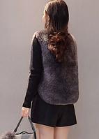 Женская меховая жилетка. Модель 61733, фото 4