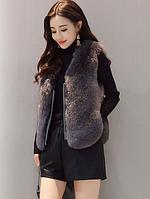 Женская меховая жилетка. Модель 61733, фото 8