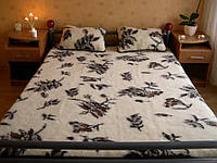 Шерстяное одеяло, 2х1,6 м. Цветы, фото 1