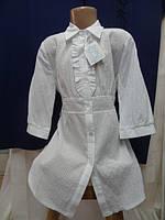 349425b0f58 Блузка нарядная для девочки 98%хлопок+2%еластан 158см-белая -Hanna
