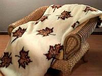 Плед из овечьей шерсти. Кленовые листья, фото 1