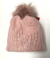 Флисовая шапка Broel (Польша) для девочки, р. 46-48 см