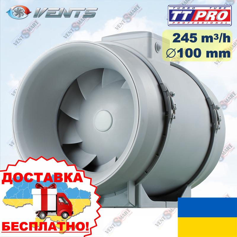 Канальный вентилятор ВЕНТС ТТ ПРО 100 смешанного типа (VENTS TT PRO 100)