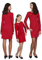 Платье  для девочки  с рукавом М-1106 размеры от 140 до 170, фото 1
