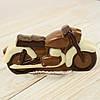 """Шоколадная фигура """"Мотоцикл маленький"""", КЛАССИЧЕСКОЕ сырье. Размер: 30х150х75мм, вес 160г"""