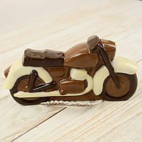 """Шоколадная фигура """"Мотоцикл маленький"""", КЛАССИЧЕСКОЕ сырье. Размер: 30х150х75мм, вес 160г, фото 1"""