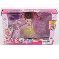 Кукла с нарядом 048B 10 см, платья 2 шт, сумочка, заколочки