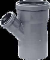 Тройник 45° 110х50x110 для внутренней канализации (ППР)