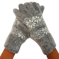 Женские перчатки из ангорской шерсти 04