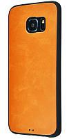 Чехол для Samsung Galaxy G930 Galaxy S7 под кожу темно коричневый