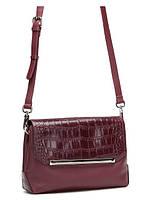 Кожаная сумка через плечо в 2х цветах с тиснением 14096A-W1-1