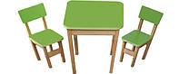 Набор столик и 2 стульчика Эко салатовый 091 *фп
