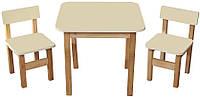 Набор столик и 2 стульчика Эко салатовый 093 *фп