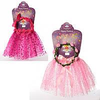 Костюм для девочки карнавальный Юбка 31 см, венок, 2 вида,в кульке 60-37-2 см
