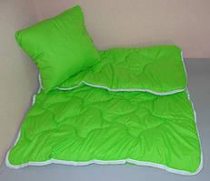 Одеяло детское с подушкой в кроватку однотонное