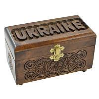"Шкатулка резная ""Ukraine"" - ""Украина"" - ""Україна"" 17, фото 1"