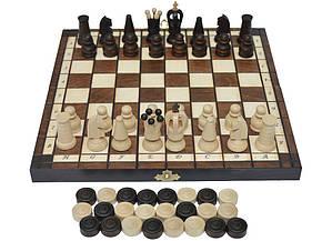 Шахи + шашки, набір настільних ігор (27х27см.), фото 2